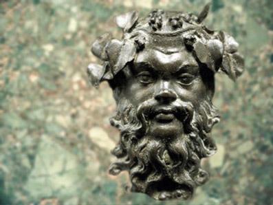 D'après le dieu grec de l'ivresse, Silène, bronze, trésor de Begram, époque Kushâna en Inde du Nord. (Marsailly/Blogostelle)