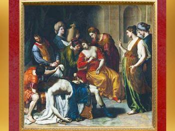 D'après La mort de Cléopâtre, par Alessandro Turchi, collection Louis Phélypeaux de La Vrillière, 1637-1643, Paris,XVIIe siècle. (Marsailly/Blogostelle)