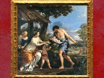 D'après Romulus et Rémus recueillis par Faustulus, par Pierre de Cortone, vers 1643, collection de La Vrillière, Paris, XVIIe siècle. (Marsailly/Blogostelle)