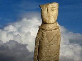 D'après la statuette gauloise d'Euffigneix et le sanglier symbole de Lug, Ier avjc-IVe siècle apjc, Haute-Marne, Gaule Romaine. (Marsailly/Blogostelle.)