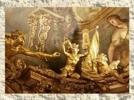 D'après la Galerie Dorée, mise en scène des Regards, décors de François-Antoine Vassé, Hôtel de Toulouse (Banque de France), Paris. (Marsailly/Blogostelle.)