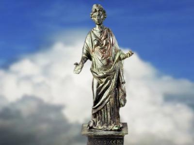 D'après la déesse Rosmerta, parèdre gauloise de Mercure, IIe -IIIe siècle apjc, France, Gaule Romaine. (Marsailly/Blogostelle)