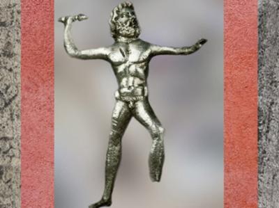 D'après Jupiter et son foudre, statuette en argent, Gaule Romaine. (Marsailly/Blogostelle)