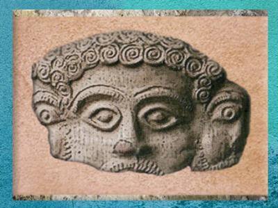 D'après Mercure Tricéphale, Gaule Romaine. (Marsailly/Blogostelle)