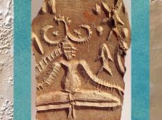 D'après le sceau au Yogi, Mohenjo-Daro, vers 2500-1800 avjc, civilisation de l'Indus. (Marsailly/Blogostelle)