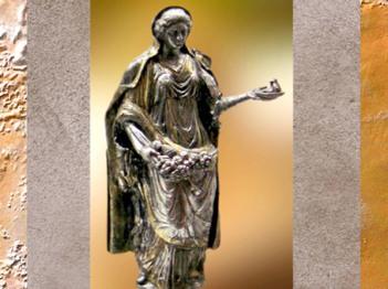 D'après la déesse Abondance, argent, trésor de Vaise, Lyon, Ier avjc-IVe siècle apjc,Gaule Romaine. (Marsailly/Blogostelle)