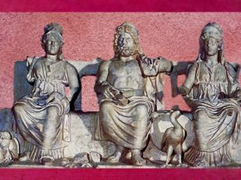 D'après la Triade Capitoline protectrice de Rome : Jupiter, Junon et Minerve, art romain, IIe siècle apjc, Palestrina, Italie, art Romain. (Marsailly/Blogostelle)