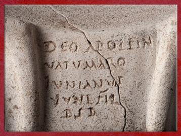 D'après une dédicace à Apollon, céramique, fanum, Picardie, IIe-IIIe siècles, Gaule Romaine. (Marsailly/Blogostelle)