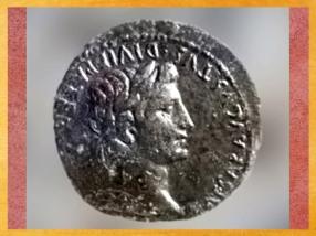 D'après l'empereur Auguste gravé sur monnaie,Lugdunum, Ier siècle apjc, Lyon, France,Gaule Romaine. (Marsailly/Blogostelle)