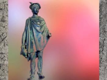D'après une statuette en bronze de Mercure et sa bourse, Ier-IIIe siècle apjc, Gaule Romaine. (Marsailly/Blogostelle)