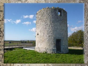 D'après le temple dit Fâ de Barzan, vestige d'un Fanum, IIe siècle apjc, Charente Maritime, France,Gaule Romaine. (Marsailly/Blogostelle)