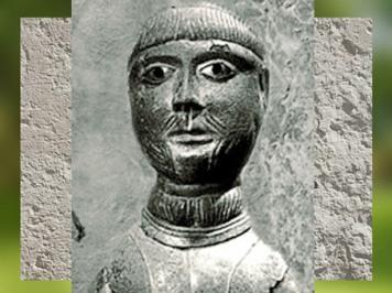 D'après les traits du Dieu de Saint-Maur, bronze, Ier siècle apjc, Gaule Romaine. (Marsailly/Blogostelle)