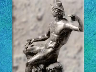 D'après un Mercure éphèbe, bronze, Gaule Romaine. (Marsailly/Blogostelle)