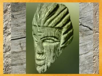 D'après l'effigie du dieu Pan, décor sculpté d'un canif, Ier avjc-IVe siècle apjc, Gaule Romaine. (Marsailly/Blogostelle)