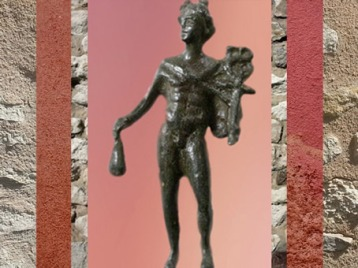 D'après Mercure coiffé du pétase, avec bourse et caducée, Gaule Romaine. (Marsailly/Blogostelle)