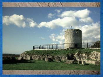 D'après le Fâ de Barzan, temple circulaire associé à des thermes antiques, IIe siècle apjc, Charente Maritime, France,Gaule Romaine. (Marsailly/Blogostelle)