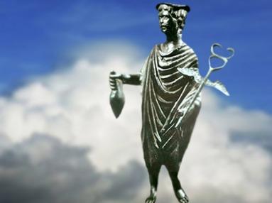D'après Mercure, statuette en bronze, IIe siècle apjc, Gaule Romaine. (Marsailly/Blogostelle)