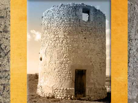 D'après le Fâ de Barzan, temple circulaire, IIe siècle apjc, Charente Maritime, France,Gaule Romaine. (Marsailly/Blogostelle)