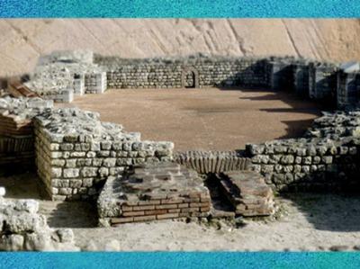 D'après le Fâ de Barzan, vestiges des thermes antiques, IIe siècle apjc, Charente Maritime, France,Gaule Romaine. (Marsailly/Blogostelle)