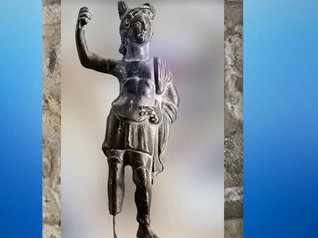 D'après Mars vêtu à la gauloise, figurine en bronze, IIe IIIe siècle apjc, Lyon, Gaule romaine. (Marsailly/Blogostelle)