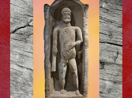 D'après Hercule, sanctuaire d'Hercule, IIe siècle apjc, Deneuvre, Gaule Romaine. (Marsailly/Blogostelle)
