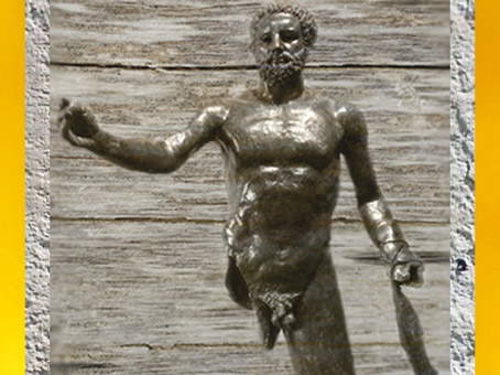 D'après Hercule, statue en bronze, Ie-IIIe siècle apjc, Bordeaux, France, Gaule Romaine. (Marsailly/Blogostelle)