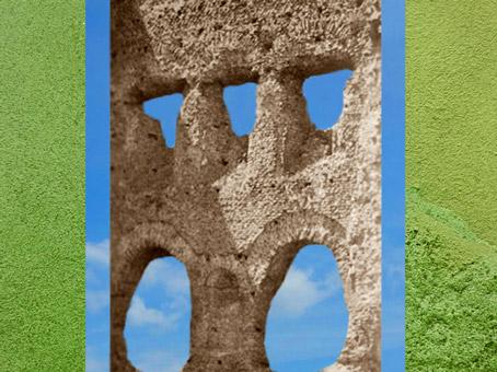 D'après le Fanum d'Autun dit Portique de Janus, Ier siècle apjc, Bourgogne, France,Gaule Romaine. (Marsailly/Blogostelle)