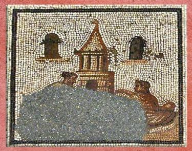 D'après La Fête des Morts, mosaïque Saint-Romain-en-Gal, IIIe siècle apjc, Gaule Romaine. (Marsailly/Blogostelle)