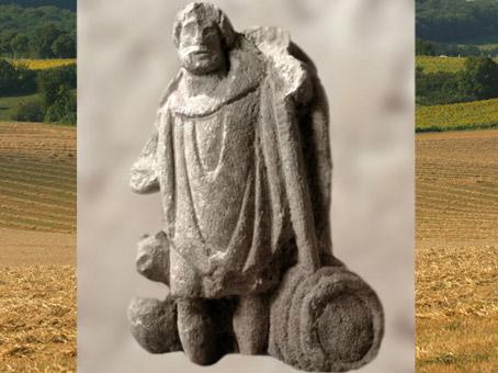 D'après le dieu gaulois Sucellus et chien et tonneau, IIe-IIIe siècle, Bourgogne ;Gaule Romaine.(Marsailly/Blogostelle)