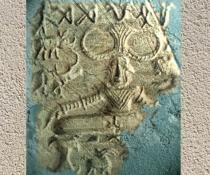 D'après le sceau au Yogi entouré d'animaux, Mohenjo-Daro, civilisation de l'Indus, vers 2500-1800 avjc. (Marsailly/Blogostelle.)