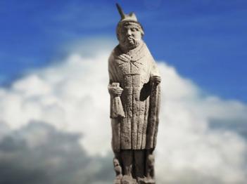 D'après la statue colossale du Mercure de Lezoux, Auvergne, Ier avjc-IVe siècle apjc, Puy-de-Dôme, Auvergne,Gaule Romaine. (Marsailly/Blogostelle)