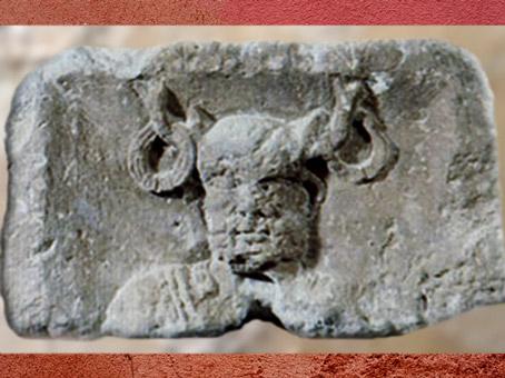 D'après Cernunnos cornu sur un bloc du Pilier des Nautes, début du Ier siècle apjc, Lutèce, Paris,Gaule Romaine. (Marsailly/Blogostelle)
