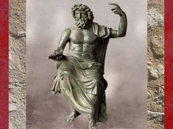D'après Zeus-Jupiter, inspiré d'un original grec de Phidias (Ve siècle avjc), bronze romain, Ier-IIe siècle apjc, époque romaine. (Marsailly/Blogostelle)