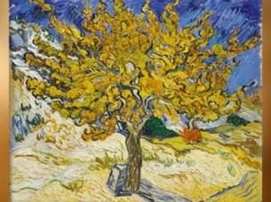 D'après L'arbre Mûrier, 1889 apjc, Vincent Van Gogh, voeux. (Marsailly/Blogostelle)