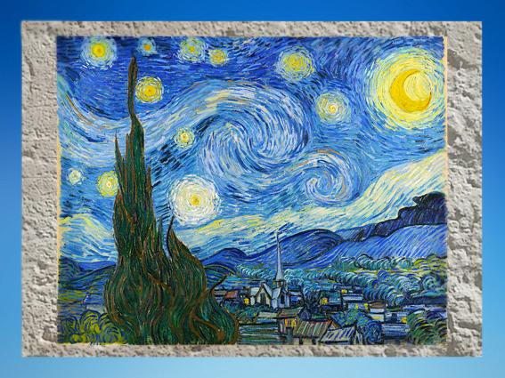 D'après La Nuit Étoilée, Vincent Van Gogh, 1889 apjc, XIXe siècle. (Marsailly/Blogostelle)