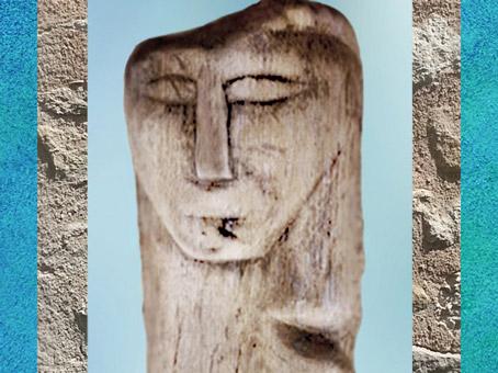 D'après une figureex-voto en bois, culte des sources,France, Gaule Romaine. (Marsailly/Blogostelle)