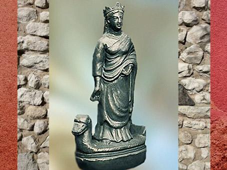 D'après Sequana, déesse gauloise de la Seine, bronze, vers 100 apjc, France, Gaule Romaine. (Marsailly/Blogostelle)