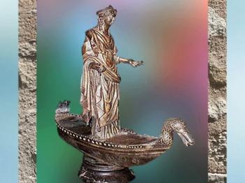 D'après Sequana, bronze, sanctuaire des Sources de La Seine, Ier - IIIe siècle apjc, Bourgogne, France, Gaule Romaine. (Marsailly/Blogostelle)
