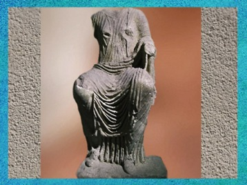 D'après une déesse fluviale, Ier siècle apjc Dijon, Bourgogne, France, Gaule Romaine. (Marsailly/Blogostelle)