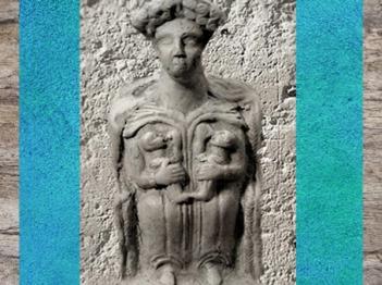 D'après une déesse mère allaitant, terre cuite, IIe siècle apjc, Auvergne, France, Gaule Romaine. (Marsailly/Blogostelle)