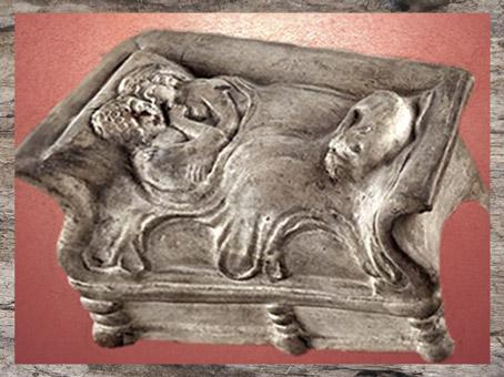 D'après un objet votif ou personnel, dit Les Amants de Bordeaux, terre cuite, IIe-IIIe siècle apjc, Gaule romaine. (Marsailly/Blogostelle)
