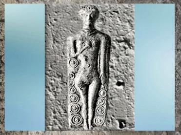 D'après une Vénus, figurine, dépôt funéraire, Ier siècle apjc, Rennes, Bretagne, France, Gaule Romaine. (Marsailly/Blogostelle)