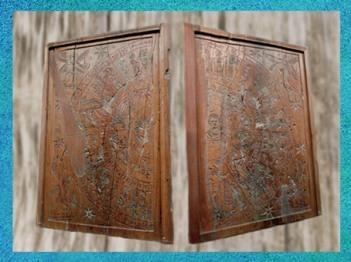 D'après les tablettes zodiacales de Grand, diptyque en ivoire, IIe siècle apjc, Grand, Vosges, France, Gaule Romaine. (Marsailly/Blogostelle)