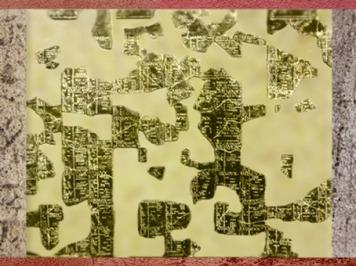 D'après le calendrier gaulois de Coligny, table en bronze, IIe siècle apjc, Rhône-Alpes, France,Gaule Romaine. (Marsailly/Blogostelle)