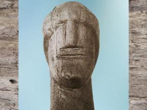 D'après un ex-voto sculpté, portrait, hêtre, source des Roches, Ier siècle apjc, Chamalières, France, Gaule Romaine. (Marsailly/Blogostelle)