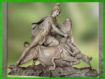 D'après Mithra qui immole le Taureau, marbre blanc, restauré par Pacetti et Franzoni au XVIIIe siècle, Vatican. (Marsailly/Blogostelle)