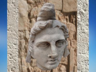 D'après un portrait coiffé du bonnet phrygien, sans doute Mithra, marbre italien, Arles, France,époque de la Gaule Romaine. (Marsailly/Blogostelle)