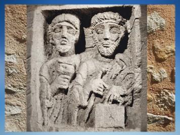 D'après un couple réuni sur une stèle funéraire, IIe siècle apjc, Bourgogne, France, Gaule Romaine. (Marsailly/Blogostelle)