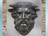 D'après unmasque d'Acheloos, dieu fluvial, bronze, Ier siècle avjc, Lezoux, France,Gaule Romaine. (Marsailly/Blogostelle)