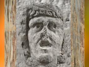 D'après une figure masculine en calcaire, Ier-IIIe siècle apjc, Gaule Romaine. (Marsailly/Blogostelle)